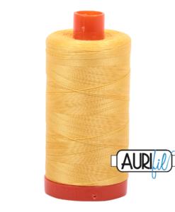 Aurifil 50WT Cotton Thread 1135 Yellow 1300 m spool