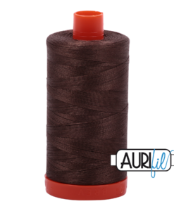 Aurifil 50WT Cotton Thread 1140 Brown 1300 m spool