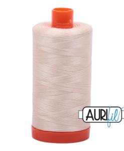 Aurifil 50WT Cotton Thread 2000 Natural 1300 m spool