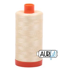 Aurifil 50WT Cotton Thread 2110 Pale Lemon 1300 m spool