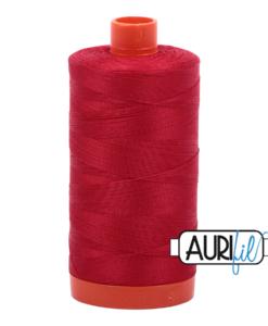 Aurifil 50WT Cotton Thread 2250 Red 1300 m spool