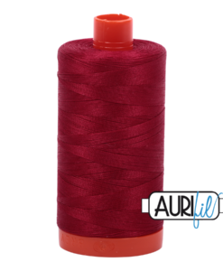 Aurifil 50WT Cotton Thread 2260 Red 1300 m spool