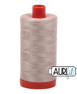 Aurifil 50WT Cotton Thread 2311 Natural/Taupe 1300 m spool