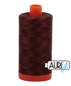 Aurifil 50WT Cotton Thread 2360 Chocolate 1300 m spool
