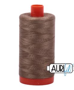 Aurifil 50WT Cotton Thread 2370 Sandstone 1300 m spool