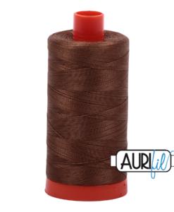 Aurifil 50WT Cotton Thread 2372 Dk Antique Gold 1300 m spool