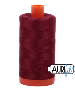 Aurifil 50WT Cotton Thread 2460 Dk Carmine Red 1300 m spool