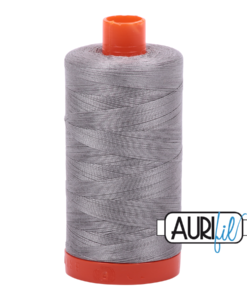 Aurifil 50WT Cotton Thread 2620 Stainless Steel 1300 m spool