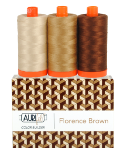 Aurifil 50WT Colour Builders Florence Brown x 3 Spools