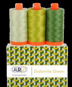 Aurifil 50WT Colour Builders Dolomite Green x 3 Spools
