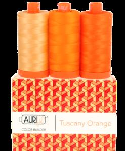Aurifil 50WT Colour Builders Tuscany Orange x 3 Spools