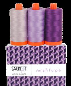 Aurifil 50WT Colour Builders Amalfi Purple x 3 Spools
