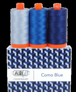 Aurifil 50WT Colour Builders Como Blue x 3 Spools