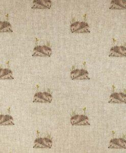 Fabric Chatham Glyn Linen Digitally Printed Hedgehogs