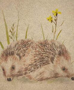 Fabric Chatham Glyn Linen Digitally Printed Panel of 3 Hedgehogs